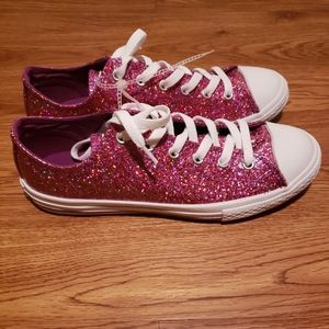 Converse All Star Pink Glitter Sneakers